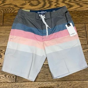 """Striped 8.5"""" Bands Board Shorts - Goodfellow & Co"""